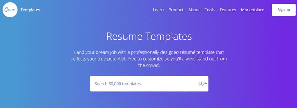 illustration template canva resume
