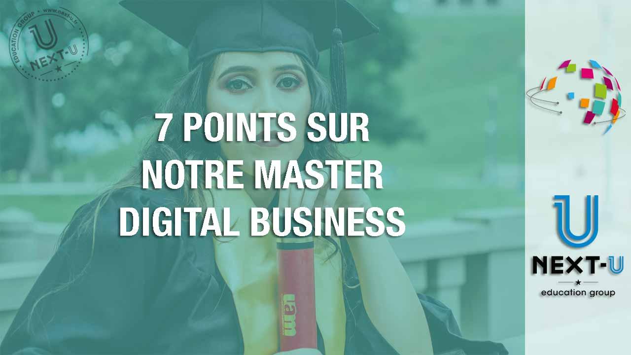 illustration 7 points sur notre mastere digital business