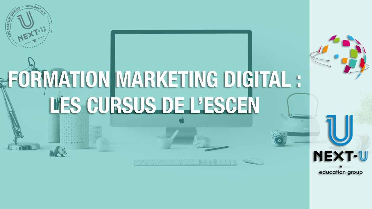 illustration formation marketing digital cursus escen